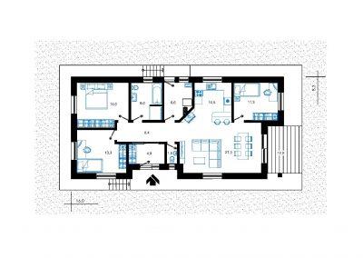 Rodinný dom RD04 nákres pozemku