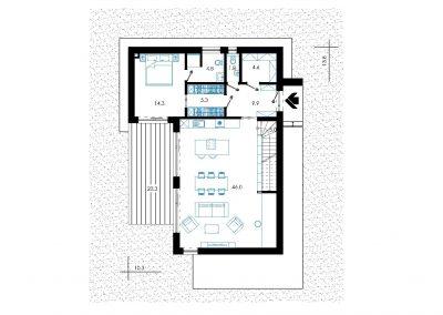Rodinný dom RD12 nákres pozemku