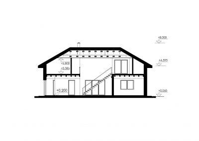 Rodinný dom RD22 rez